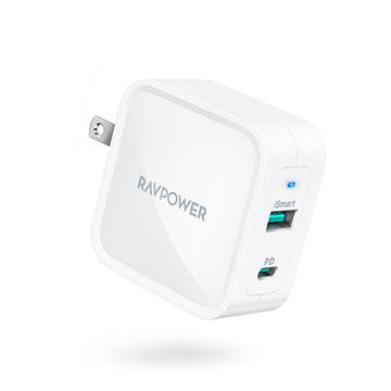 RAVPower 65W氮化鎵GaN USB-C快速充電器-白 RP-PC133