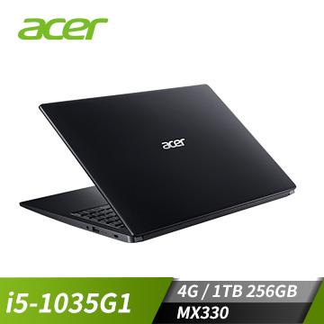 ACER宏碁 Aspire 3 筆記型電腦(i5-1035G1/MX330/4G/256GB+1TB)