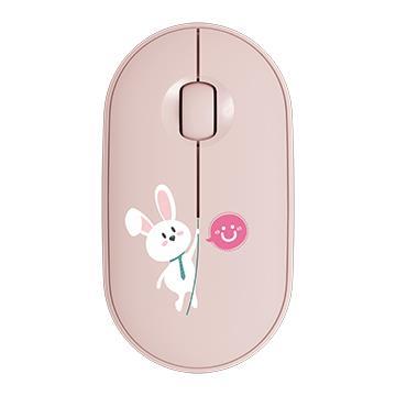 Logitech羅技 Pebble M350設計款上蓋-微笑兔兔