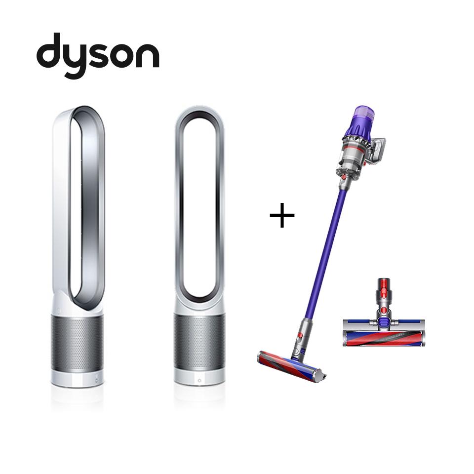 (1+1合購組)Dyson Digital Slim Fluffy Extra吸塵器+Dyson 空氣清淨氣流倍增器TP00