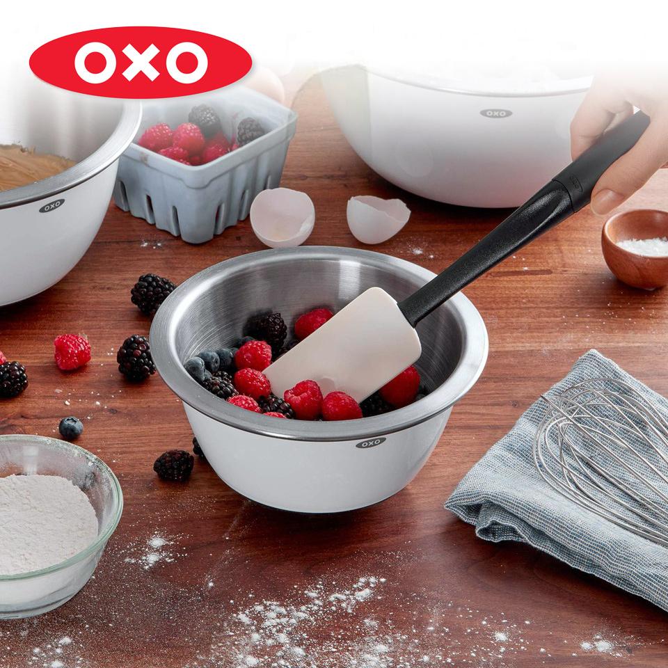 美國OXO 好好握矽膠刮刀-小白