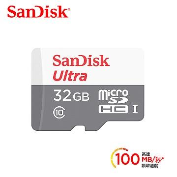 SanDisk晟碟 Ultra microSD 32GB 記憶卡