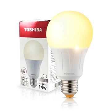 東芝TOSHIBA 14W LED燈泡-自然光