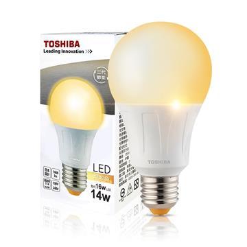 東芝TOSHIBA 14W LED燈泡-黃光