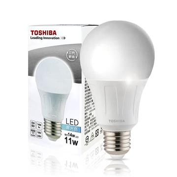 東芝TOSHIBA 11W LED燈泡-白光