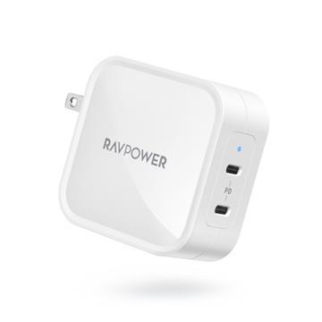 RAVPower 90W氮化鎵GaN USB-C快速充電器-白