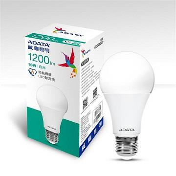 ADATA 威剛10W節能標章LED球泡燈-白光