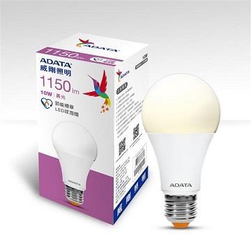 ADATA 威剛10W節能標章LED球泡燈-黃光