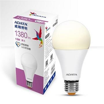 ADATA 威剛12W節能標章LED球泡燈-黃光 WPUM-12WLA