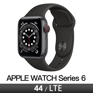 Apple Watch S6 LTE 44/灰鋁/黑運動錶帶