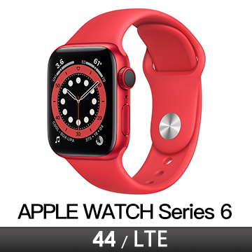 Apple Watch S6 LTE 44/紅鋁/紅運動錶帶 M09C3TA/A