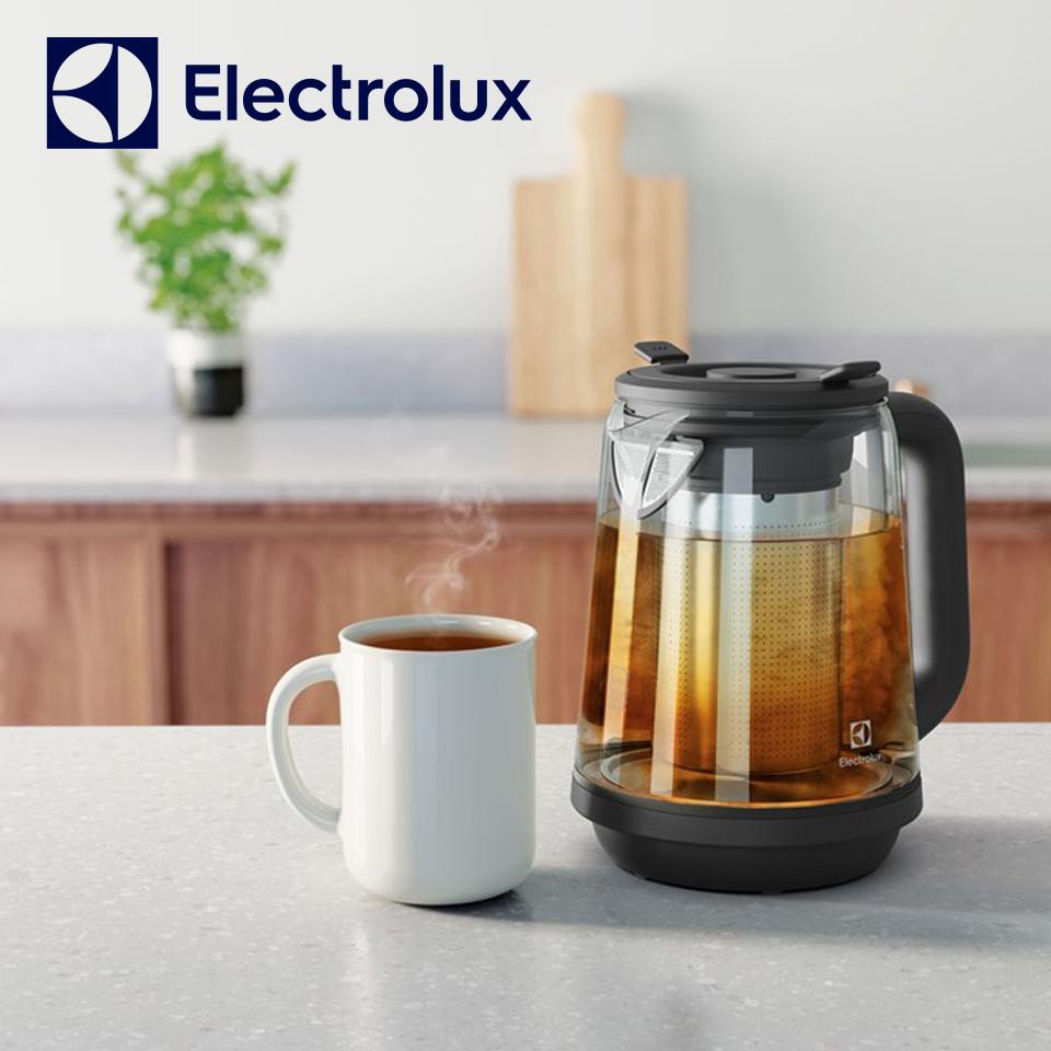 伊萊克斯主廚系列1.7L玻璃智能溫控電茶壺