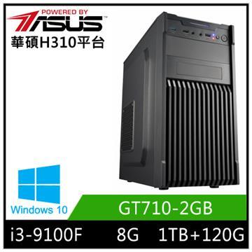 華碩平台[炎武戰士]i3四核Win10獨顯SSD電腦