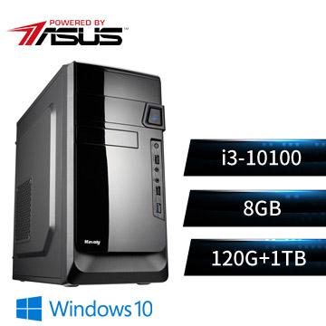 華碩平台[天眼戰士]i3四核Win10效能SSD電腦