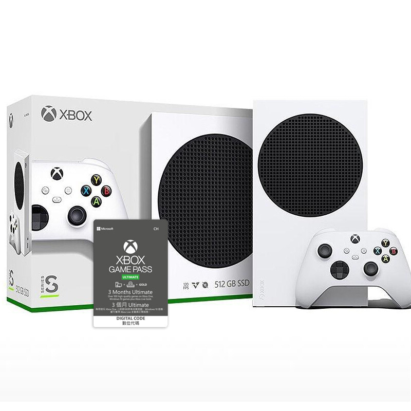 (組合包)Xbox Series S主機+Xbox Game Pass Ultimate 3個月實體卡1張