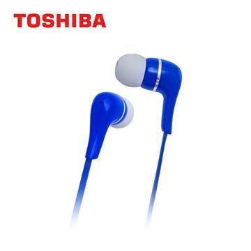 TOSHIBA東芝 重低音耳道式耳機-藍