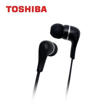 TOSHIBA東芝 重低音耳道式耳機-黑