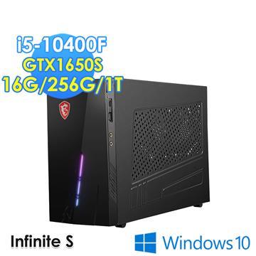 msi微星 Infinite S 10SA-050TW 電競桌機(i5-10400F/16GD4/256G+1T/GTX1650S/W10)
