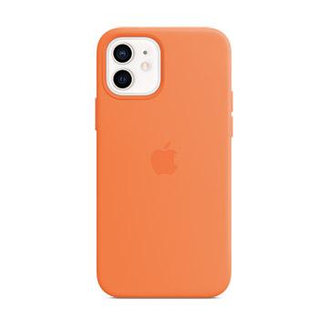 iPhone 12 mini MagSafe 矽膠保護殼-金橘色
