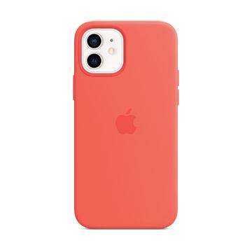 iPhone 12 mini MagSafe 矽膠保護殼-粉橘色