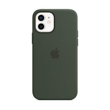 iPhone 12 mini MagSafe 矽膠殼-賽普勒斯綠