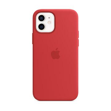 iPhone 12 mini MagSafe 矽膠保護殼-紅色