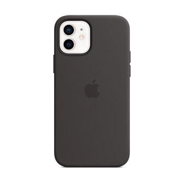 iPhone 12/12 Pro MagSafe 矽膠保護殼-黑色