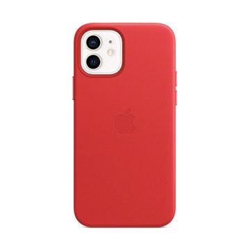 iPhone 12/12 Pro MagSafe 皮革保護殼-紅色