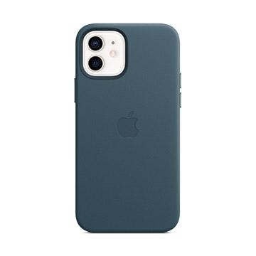 iPhone 12/12Pro MagSafe皮革殼-波羅的海藍