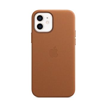 iPhone 12/12 Pro MagSafe 皮革殼-馬鞍棕色