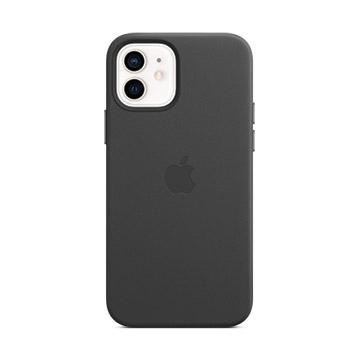 iPhone 12/12 Pro MagSafe 皮革保護殼-黑色