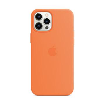 iPhone 12 Pro Max MagSafe 矽膠殼-金橘色 MHL83FE/A
