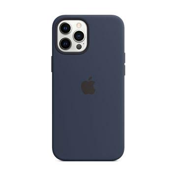 iPhone12 ProMax MagSafe矽膠殼-海軍深藍色