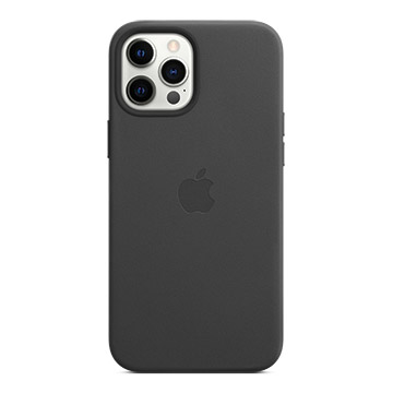 iPhone 12 Pro Max MagSafe 皮革殼-黑色