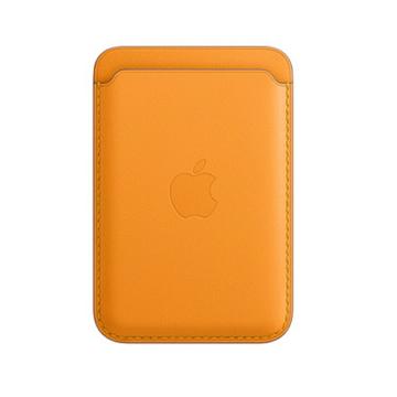 iPhone MagSafe 皮革卡套-加州罌粟色
