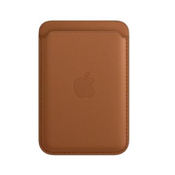 iPhone MagSafe 皮革卡套-馬鞍棕色