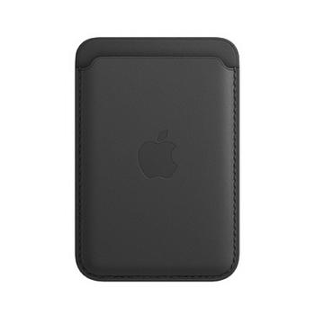 iPhone MagSafe 皮革卡套-黑色