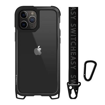 SwitchEasy iPhone 12/12Pro 鋁框吊繩殼-黑