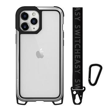 SwitchEasy iPhone 12/12Pro 鋁框吊繩殼-銀