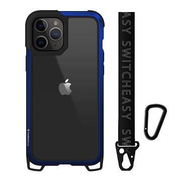 SwitchEasy iPhone 12/12Pro 鋁框吊繩殼-藍