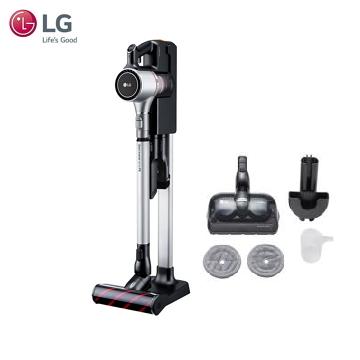 (含吸頭套件組合) 樂金LG 手持無線吸塵器(銀色雙電池)