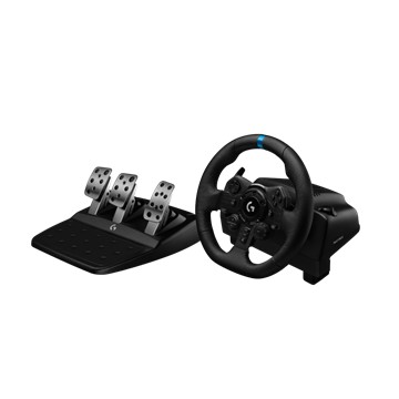 【羅技電競賽車組(方向盤+變速器)】 G923 模擬賽車方向盤+Driving Force Shifter變速器