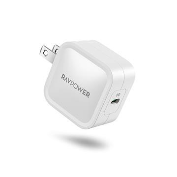 RAVPower 30W氮化鎵GaN USB-C快速充電器-白 RP-PC120