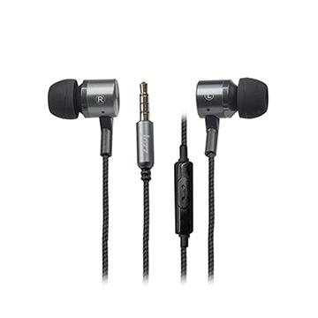 INTOPIC廣鼎 入耳式鋁合金拉絲耳機麥克風