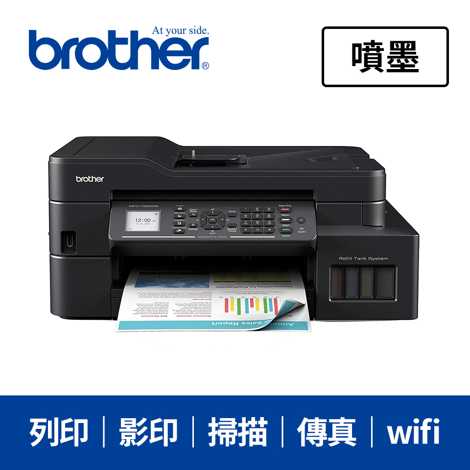 Brother MFCT920DW 雙面大連供傳真事務機