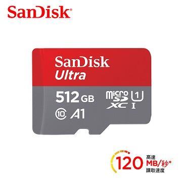 SanDisk晟碟 Mobile Ultra SD A1 512G記憶卡
