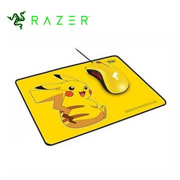 Razer雷蛇 皮卡丘限定款 Pikachu電競滑鼠+滑鼠墊套裝