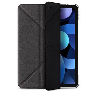 JTLEGEND iPad Air 10.9吋折疊布紋皮套-黑 AR10.9折紋皮套黑