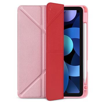 JTLEGEND iPad Air 10.9吋折疊筆槽皮套-粉 AR10.9折紋槽套粉