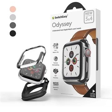 SwitchEasy鋁合金Apple Watch保護殼44mm-銀